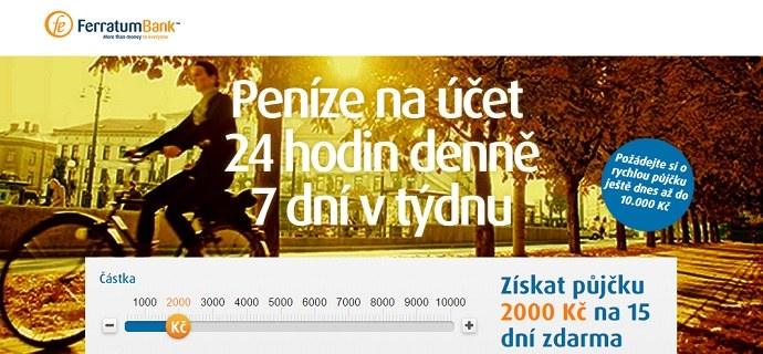Ferratum Bank Ltd homepage